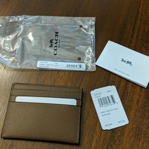 Coach men's leather card-case